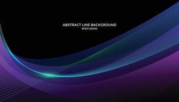 fundo de linha ondulada, padrão de linha abstrata vetor