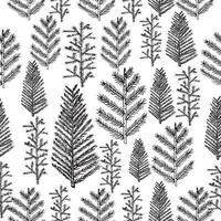 padrão sem emenda com árvore de natal vetor
