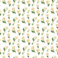 padrão de moda com flores sem costura, para design têxtil. artístico vetor