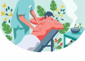 spa massagem conceito ilustração vetorial vetor