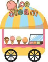 barraca de carrinho e vetor de sorvete