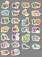 letra do alfabeto animal az vetor