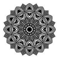 projeto abstrato decorativo decorativo mandala ilustração de fundo vetor