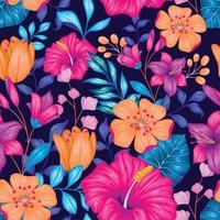 lindo vintage floral padrão sem emenda vetor