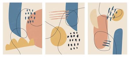 modelos contemporâneos com formas abstratas estilo moderno de meados do século vetor