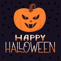 pôster de abóbora de halloween. conceito de halloween. vetor