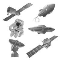 ícones de exploração espacial vetor