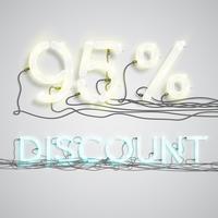 Porcentagem de desconto, ilustração vetorial