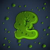 Fonte de lodo verde, vetor