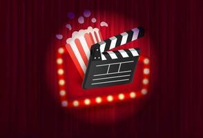 modelo de vetor de banner promocional de cinema