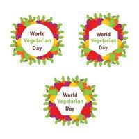 dia mundial do vegan, design de plano de fundo de comida saudável vetor