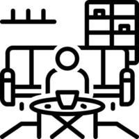ícone de linha para salão de chá vetor