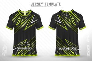 jérsei de esportes e t-shirt modelo esportes jersey design vetor maquete.