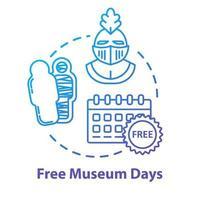 ícone de conceito de dias de museu grátis vetor