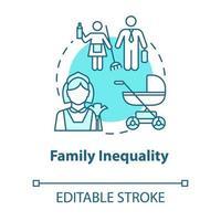 ícone do conceito turquesa de desigualdade familiar vetor