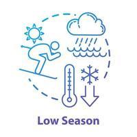 ícone do conceito de baixa temporada vetor