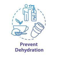 ícone do conceito de prevenção de desidratação vetor