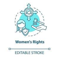 ícone do conceito turquesa dos direitos das mulheres vetor