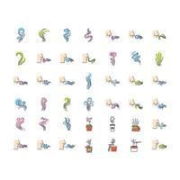 conjunto de ícones de cores rgb de odores vetor