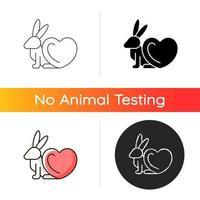 ícone gradiente livre de crueldade vetor