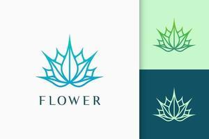 logotipo de lótus ou ervas em formato luxuoso e moderno para beleza ou terapia vetor