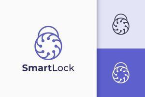 logotipo de segurança ou defesa em forma de cadeado representa privacidade ou segredo vetor