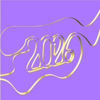 Fita abstrata forma um ano, ilustração vetorial