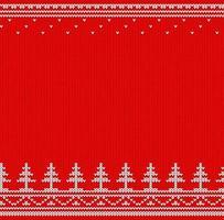 suéter de malha vermelho e branco vetor
