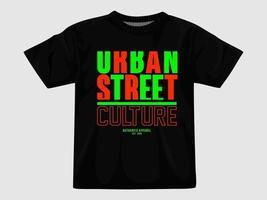 t-shirt de rua urbana design.eps vetor