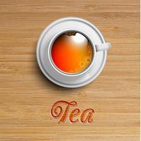 Realista xícara de chá, vetor