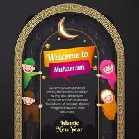 eid adha mubarak cartão comemorativo mídia social panfleto fundo islâmico vetor