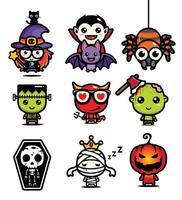 mascote de desenho vetorial para a celebração do halloween vetor