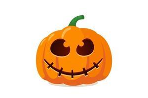 Jack o lantern assustador assustador de abóbora com um sorriso assustador de medo de fantasma vetor