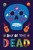 poster do dia de los muertos. festival ritual nacional do méxico vetor