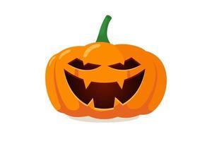 Jack o lantern assustador assustador com um sorriso fantasma assustador vetor
