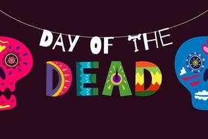 pôster do dia dos mortos mexicano vetor