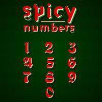 Modern 'Spicy fonte para qualquer uso, ilustração vetorial vetor