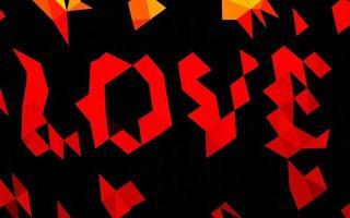 fundo poligonal do vetor vermelho claro.