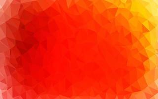 layout poligonal abstrato de vetor vermelho e amarelo claro.