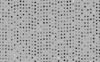 layout de vetor cinza escuro, prata com formas de círculo.