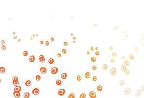 padrão de vetor amarelo e laranja claro com esferas.