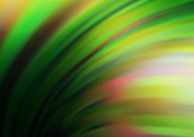 fundo vector verde escuro e amarelo com formas de lâmpada.