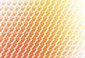 modelo de vetor amarelo e laranja claro com formas de bolha.