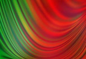 fundo vector verde e vermelho claro com círculos curvos.