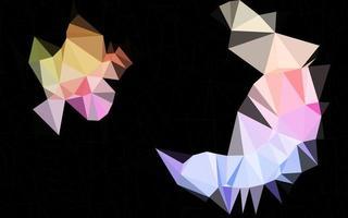 luz multicolor, layout de baixo poli do vetor do arco-íris.