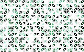 modelo sem emenda de vetor verde claro com cristais, triângulos.