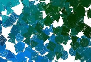 fundo vector azul escuro, verde com triângulos, círculos, cubos.