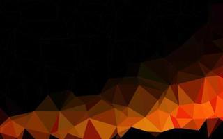 textura de triângulo embaçado vector laranja claro.