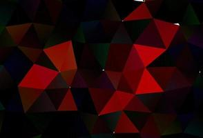 pano de fundo de mosaico abstrato de vetor vermelho claro.