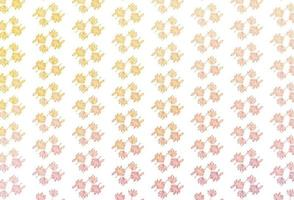 layout de desenho de vetor amarelo e laranja claro.